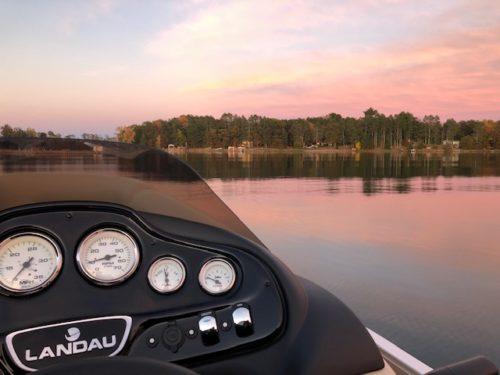 Landau dash view on Devils Lake