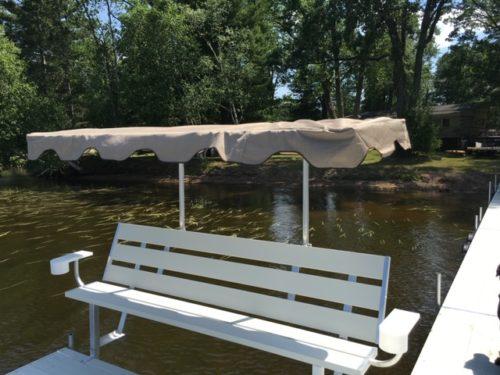 8' Bench with umbrella